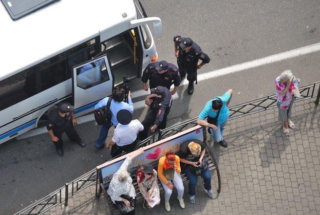 Сочи, 12 июня. Акция сторонников Навального. Фото: Валерий Перевозчиков. Сочинские новости.